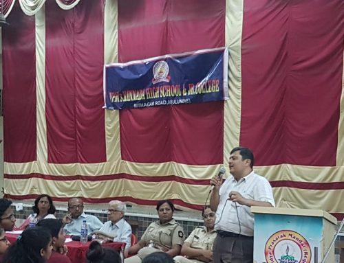 Seminar on Road Safety by Mumbai RTO–VPM's Kannada High School & Junior College, Mulund