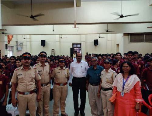 Seminar on Cyber Safety awareness by Navghar Police (19th November 2019)–VPM's Kannada High School & Junior College, Mulund