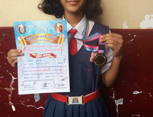 Gold Medal in Maharastra State Rope Malkhamb Competition 2019-20—VPM's B R Tol English High School, Mulund