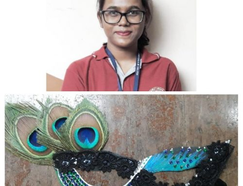 Yashasvi Bagade from XII C won 2nd Prize in Mask Making Competition 2019-20–VPM's Kannada High School & Junior College, Mulund