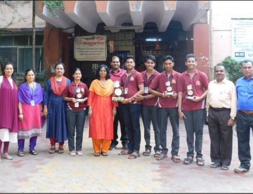 Winners of Championship Trophy 2019-20—VPM's Kannada High School & Junior College