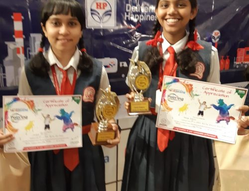 Consolation Prizes at YOUNG WORLD PAINTING COMPETITION 2019-20—VPM's B R Tol English High School, Mulund