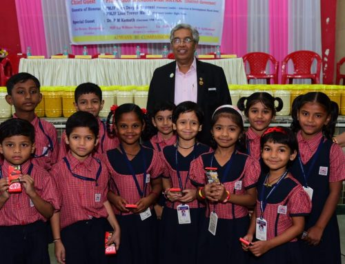 Programme of Distribution of Grains to Relieve the Hunger–VPM's Kannada Primary School,Mulund