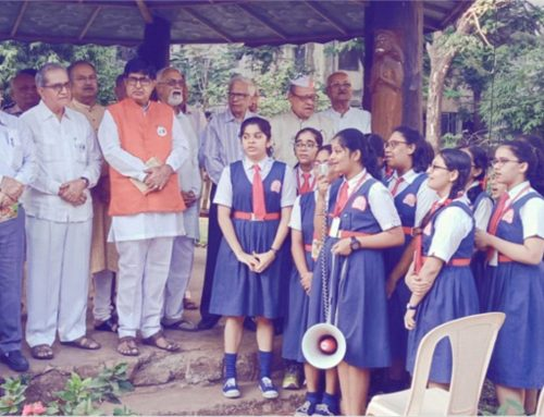 Gandhi Nirvan Diwas or Martyr's Day 2019-20 was celebrated by Rotary Club on 30th January 2020–VPM's B R Tol English High School , Mulund