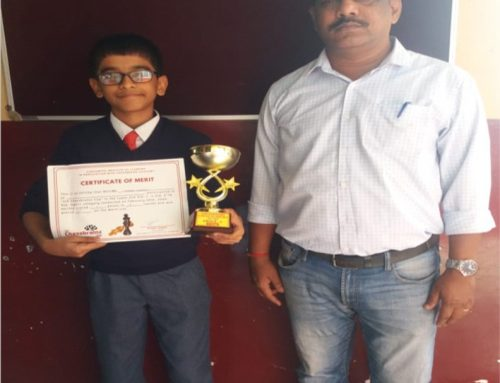 Mast.Soham Kulkarni of Std.VIII A was awarded 1st Prize at Inter-School Chess Tournament 2019-20–VPM's B R Tol English High School, Mulund