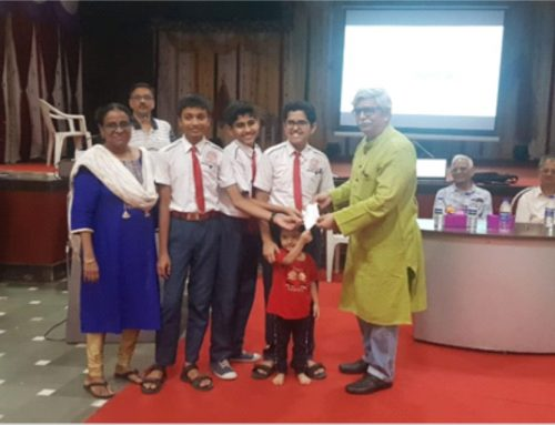 Students of Class VIII bagged 3rd prize at Science Exhibition 2019-20–VPM's B R Tol English High School, Mulund