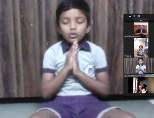 Sr.Kg-Yoga session 2020-2021–VPM's  Dolphin Kids & English Primary school, Mulund (E)